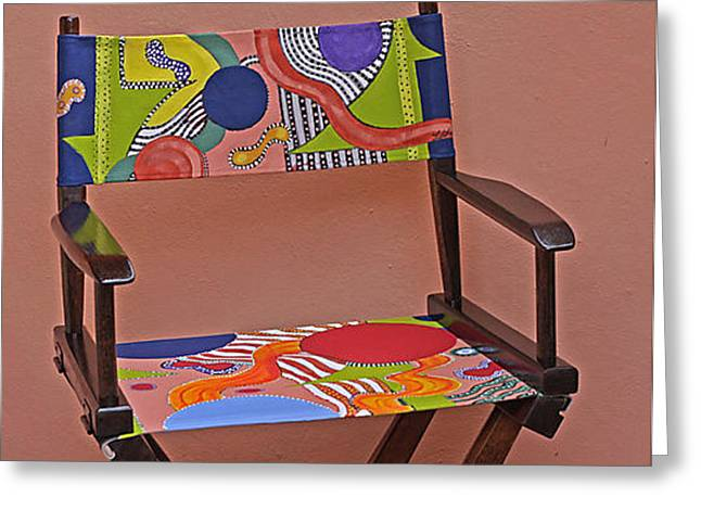 Chairs Sculptures Greeting Cards - Metro Chair Greeting Card by Linda Lane