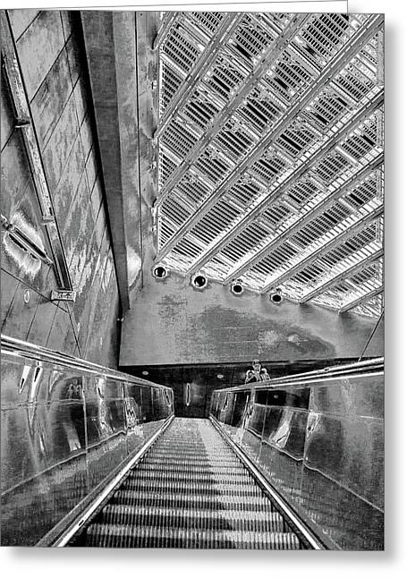 Metro Line 4 Structures, Budapest 3 Greeting Card