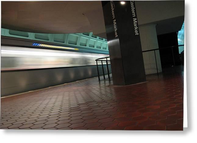 Metro Motion Greeting Card by Sean Owens