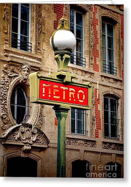 Metro Greeting Card by Olivier Le Queinec