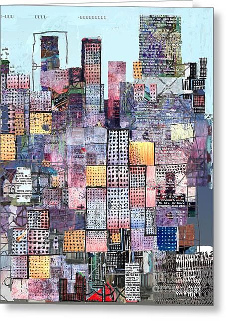 Metropolis 3 Greeting Card by Andy  Mercer