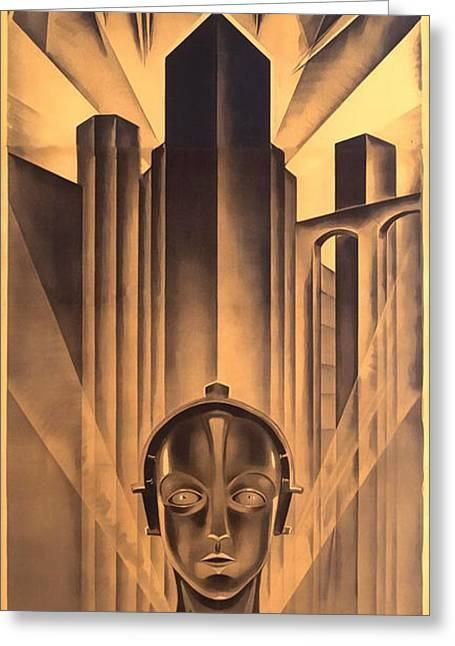 Greeting Card featuring the digital art Metropolis Poster by Chuck Staley