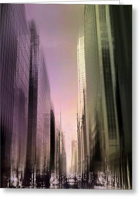 Metropolis Sunset Greeting Card by Jessica Jenney