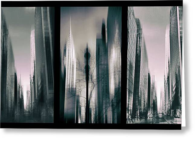 Metropolis Triptych 3 Greeting Card