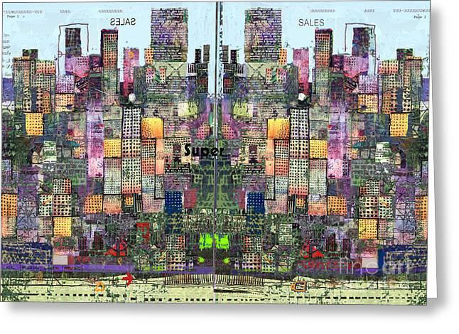 Metropolis Vi Greeting Card by Andy  Mercer