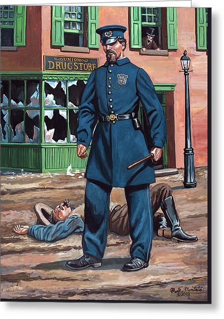 Metropolitan Police Officer 1863 Greeting Card by Mark Maritato