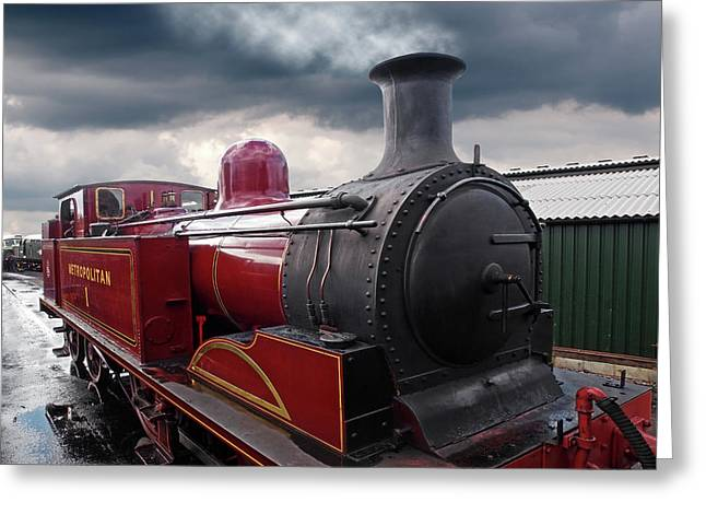 Old Metropolitan Steam Train Greeting Card by Gill Billington