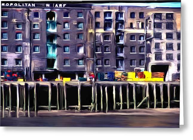 Metropolitan Wharf Greeting Card by Jim Proctor