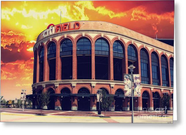 Mets Citi Field  Greeting Card by Nishanth Gopinathan