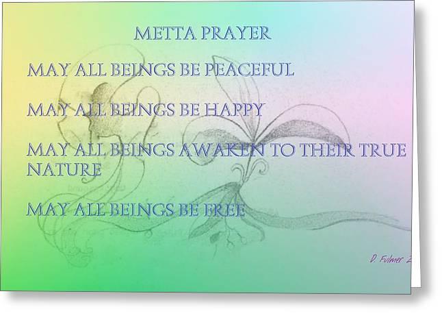 Metta Prayer Greeting Card