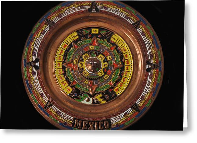 Mexican Aztec Calendar Greeting Card