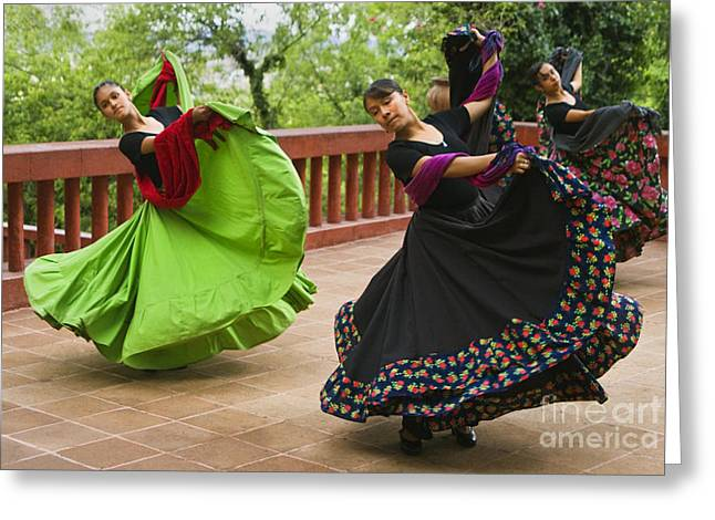 Mexican Dancers - San Miguel De Allende Greeting Card by Craig Lovell