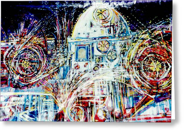 Mexican Fireworks Greeting Card by Dale  Witherow