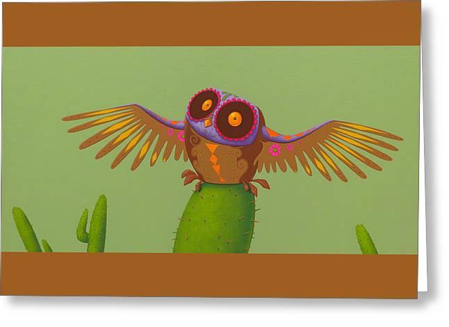 Mexican Owl Greeting Card by Jasper Oostland