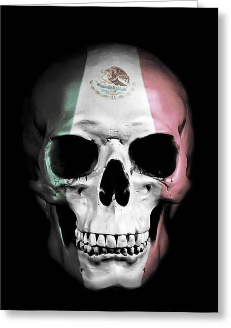 Mexican Skull Greeting Card by Nicklas Gustafsson