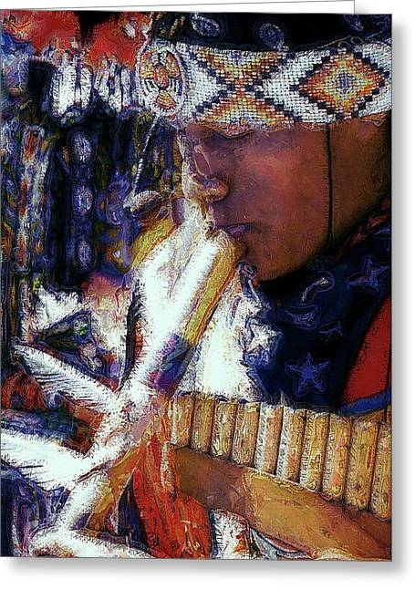 Greeting Card featuring the photograph Mexican Street Musician by Lori Seaman