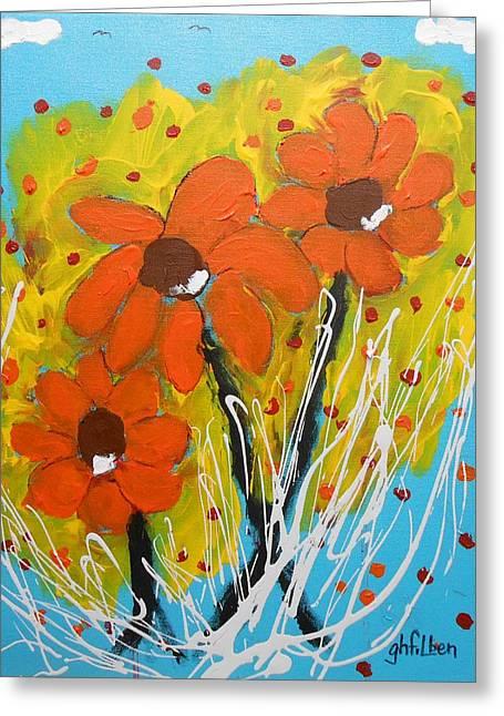 Mexican Sunflowers Flower Garden Greeting Card