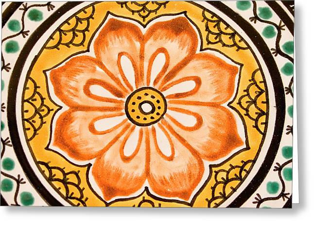 Mexican Tile Detail Greeting Card