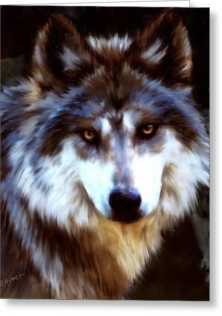Mexican Wolves Greeting Card by Barbara Hymer