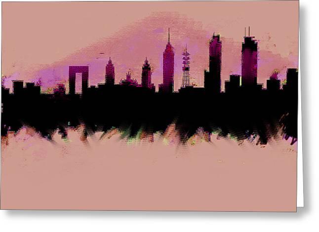 Mexico City Skyline Df  Greeting Card