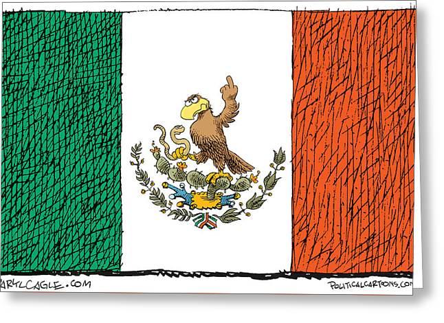 Mexico Flips Bird Greeting Card