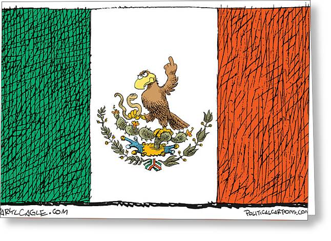 Mexico Flips Bird Greeting Card