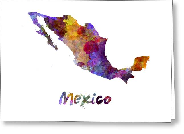 Mexico In Watercolor Greeting Card