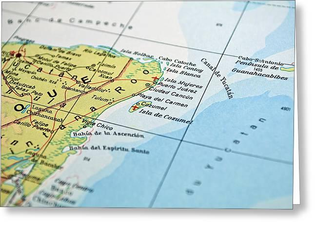 Mexico Map Greeting Card by Fernando Barozza