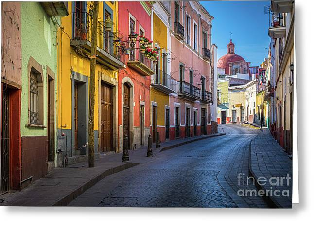Mexico Street Greeting Card by Inge Johnsson