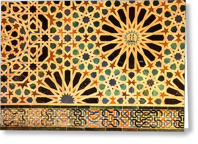Mexuar Room Details Alhambra Palace Greeting Card
