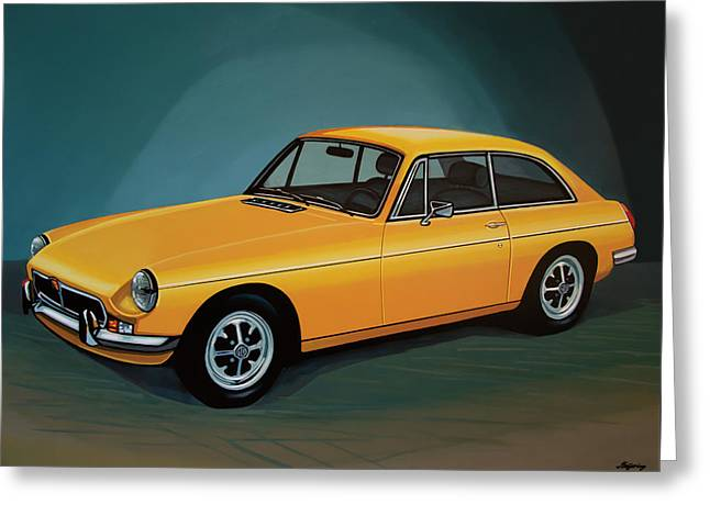 Mgb Gt 1966 Painting  Greeting Card