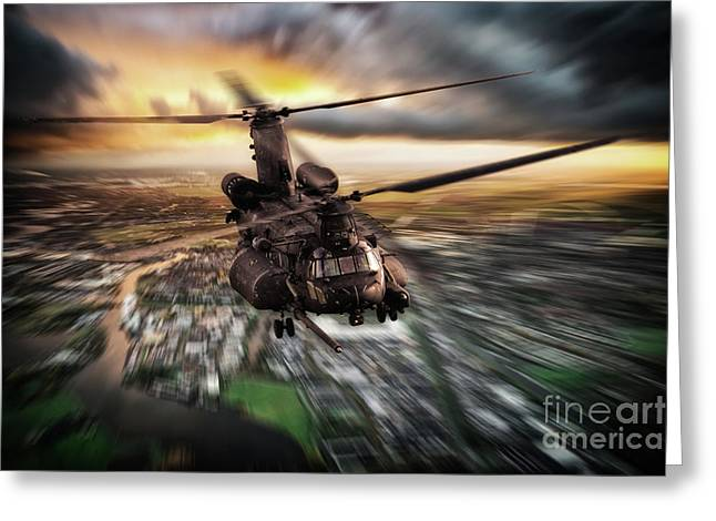 Mh-47 Chinook Greeting Card by J Biggadike