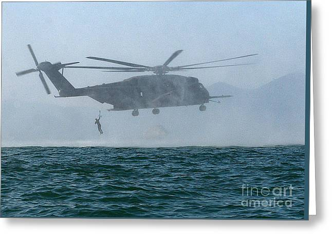 Mh-53e Sea Dragon Helicopter Greeting Card