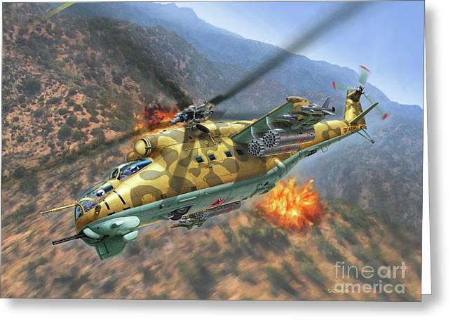 Mi-24d Hind Greeting Card
