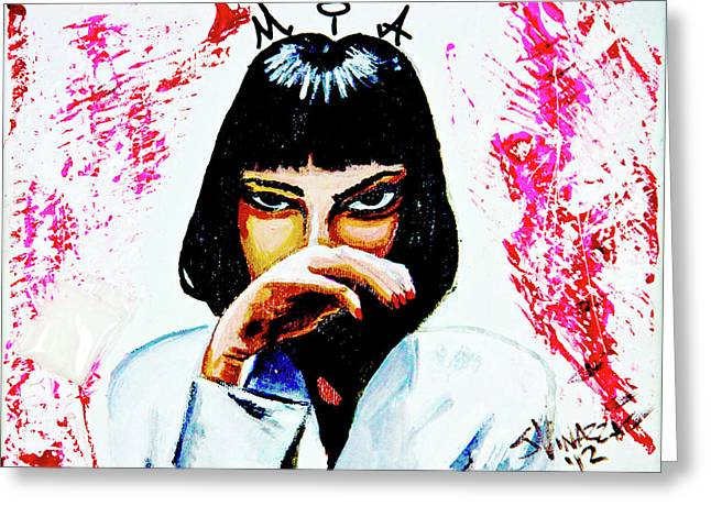 Greeting Card featuring the painting MIA by eVol i