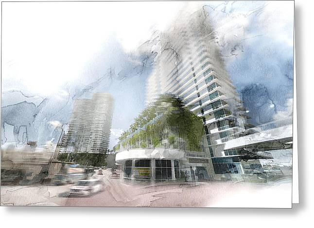 Miami 25 Greeting Card by Jani Heinonen