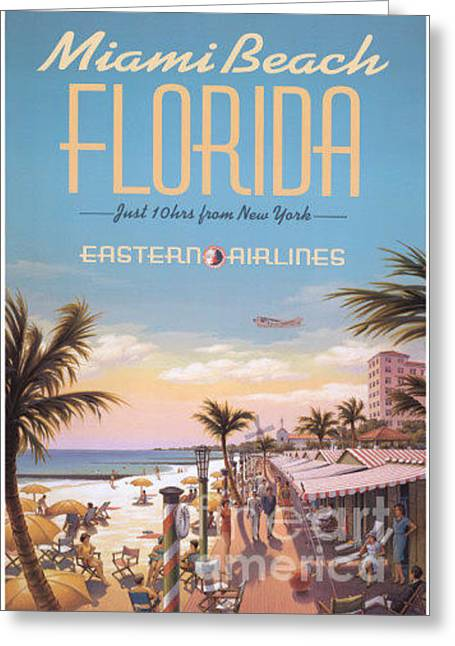 Miami Beach Florida Eastern Airlines Greeting Card