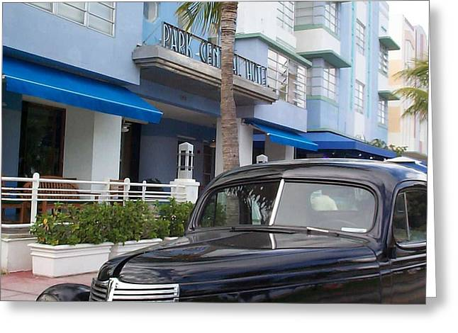 Greeting Card featuring the photograph Miami Beach by Mary-Lee Sanders