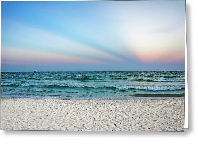 Miami Beach Sunset Greeting Card