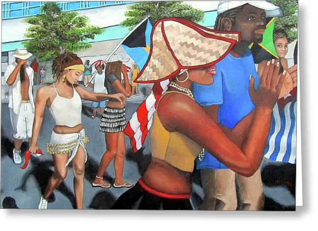 Miami Carnival Greeting Card by Alima Newton