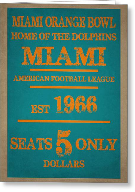 Miami Dolphins Sign Greeting Card