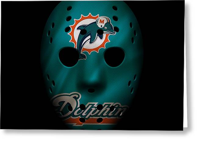 Miami Dolphins War Mask 2 Greeting Card by Joe Hamilton