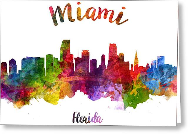 Miami Florida 23 Greeting Card by Aged Pixel