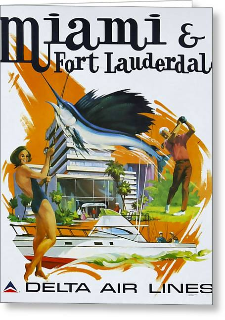 Miami - Ft Lauderdale Greeting Card