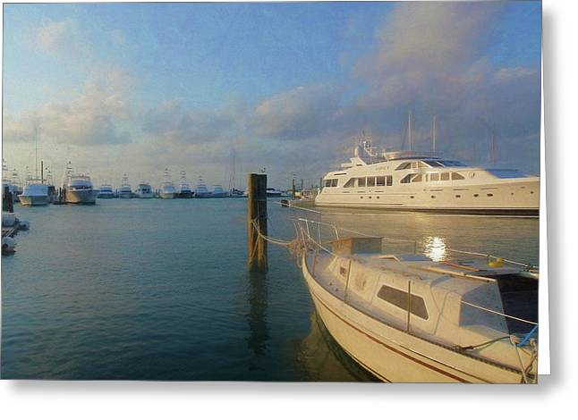 Miami Harbor Greeting Card by JAMART Photography