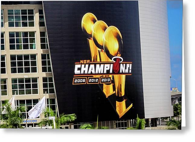 Miami Heat Nba Champions 2006-2012-20133 Greeting Card