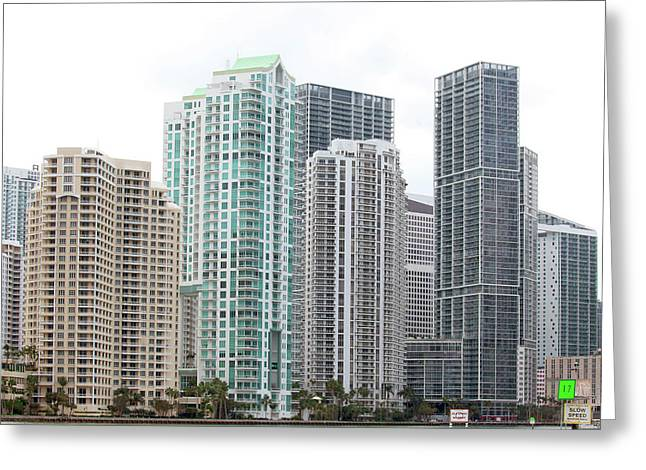 Miami Highrises Greeting Card