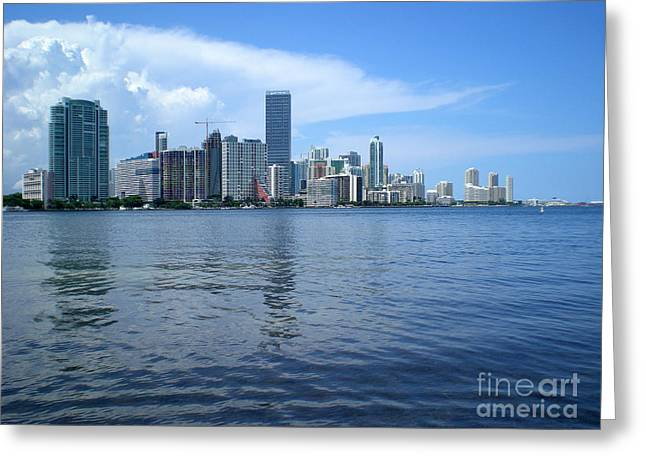Miami Greeting Card by Keiko Richter