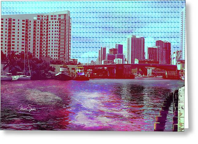 Miami River Vibe Greeting Card