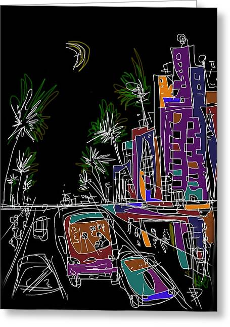 Miami Greeting Card by Russell Pierce